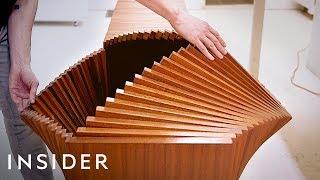 New York Designer Creates Shape-Shifting Cabinets