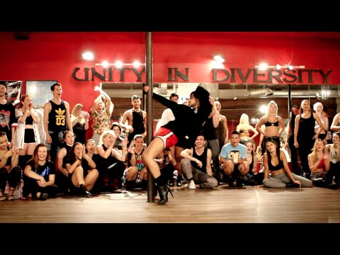 "YANIS MARSHALL HEELS CHOREOGRAPHY ""DANCE LIKE WE'RE MAKING LOVE"" CIARA. MILLENNIUM IN LOS ANGELES."