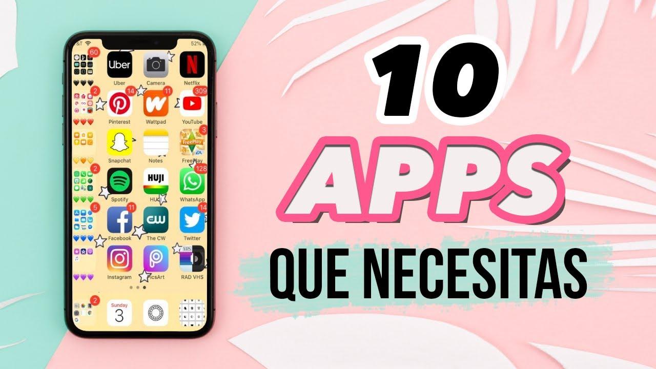 Las 10 Mejores Aplicaciones Que Necesitas En Tu Celular Jimena Aguilar Youtube