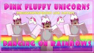 Rosa flauschige Einhörner tanzen auf Regenbogen - ROBLOX Edition (für TheLaughingUnicorn 100k Subs)