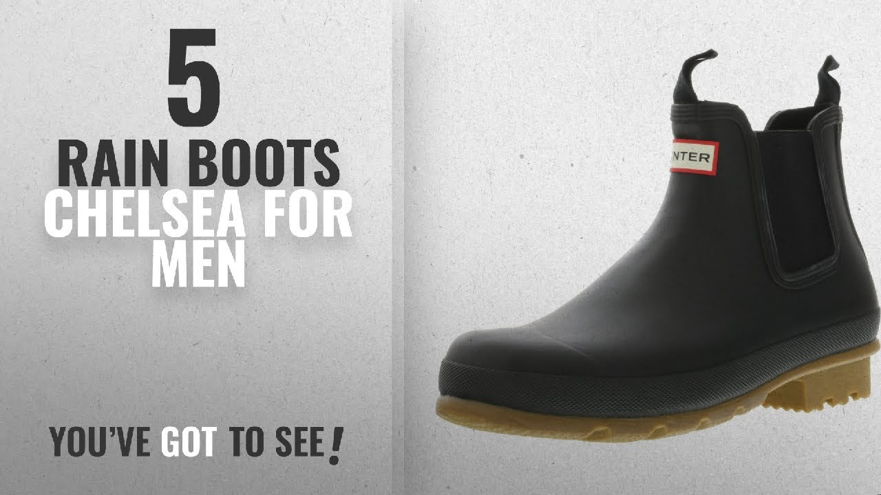 Hunter Men's Original Chelsea Dark Sole Rma Umber High-Top Rubber Rain Boot - 10M ID4MgB