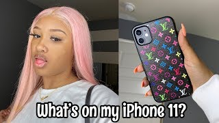 Whats on my iPhone 11!! vlogmas day 2| Saria Raine