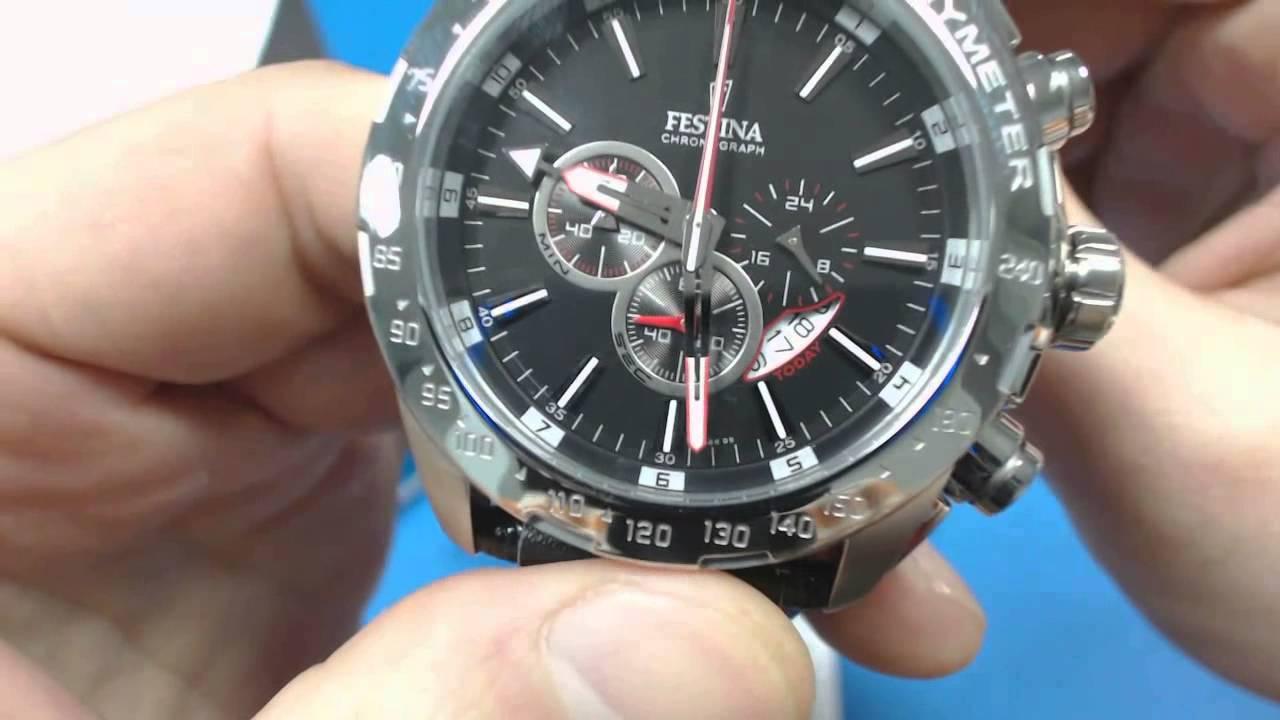 Мъжки часовник Festina Chrono F16489 5 - YouTube 08252b4be3