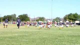 RYA Bantam Longhorn Hogan Nelson Throws 80 Yard Touchdown Pass