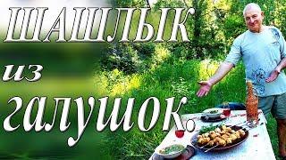 Шашлык из галушек/Суп из галушек/Отдых на природе