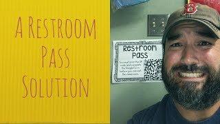 Eine Toilette-Pass-Lösung