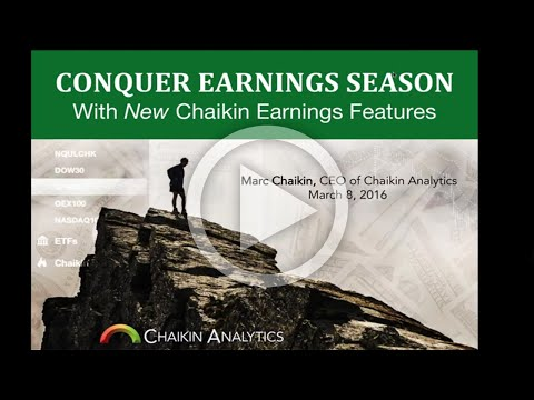 Conquer Earnings Season with New Chaikin Earnings Features