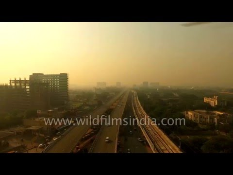 Flying over Okhla Industrial Area, Delhi