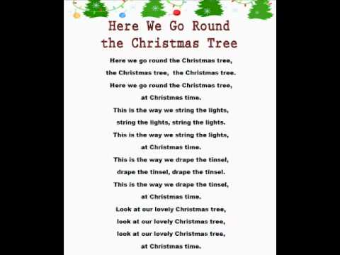 Here We Go Round the Christmas Tree (Christmas Rhymes) - YouTube