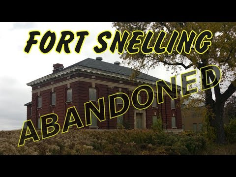 The abandoned buildings of Fort Snelling's Upper Post