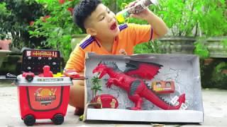 Trò Chơi Toy Dino Workbench Tools ❤ ChiChi ToysReview TV ❤ Đồ Chơi Trẻ Em Bàn Làm Việc