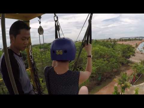 Batam Flying Fox Experience