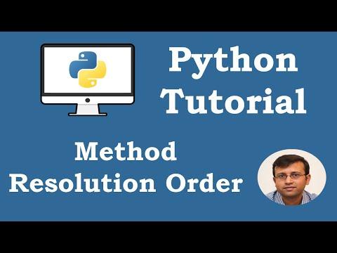 Python Tutorial - Method Resolution Order MRO