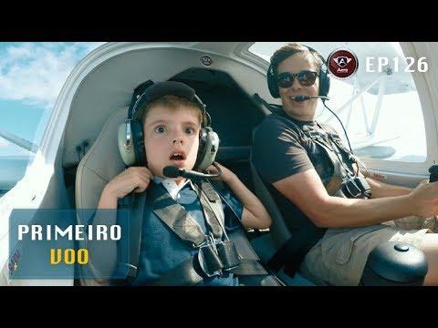 A Reação De Uma Criança Voando Pela Primeira Vez