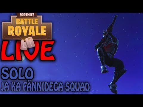 Fortnite Battle Royale Live! Solo ja ka fännidega!