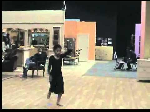 Taylor Faye Ruffin dances with Mrs. Debbie Allen