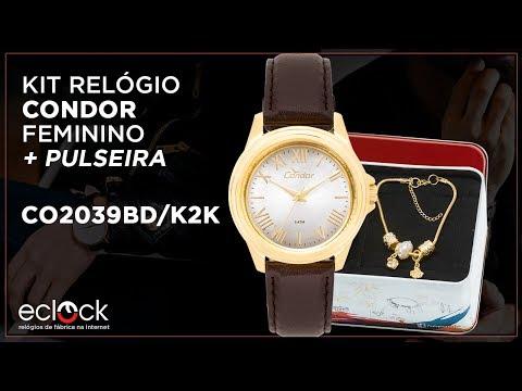 10c2c8dcb77 Remix Kit Relógio Condor Feminino com Pulseira CO2039BD K2K - Eclock -  Eclock Relógios - vovoclip.com