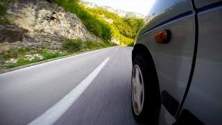 Daewoo Tico w krainie tuneli - Kanion rzeki Piva - Czarnogóra | Accelerated | GoPro
