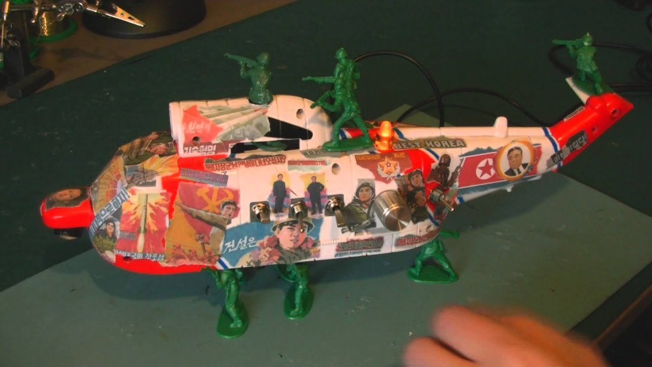 Circuit Bent North Korea Propaganda Helicopter By Freeform Delusion Circuitbending Circuitbent Noise Toys Cementimental