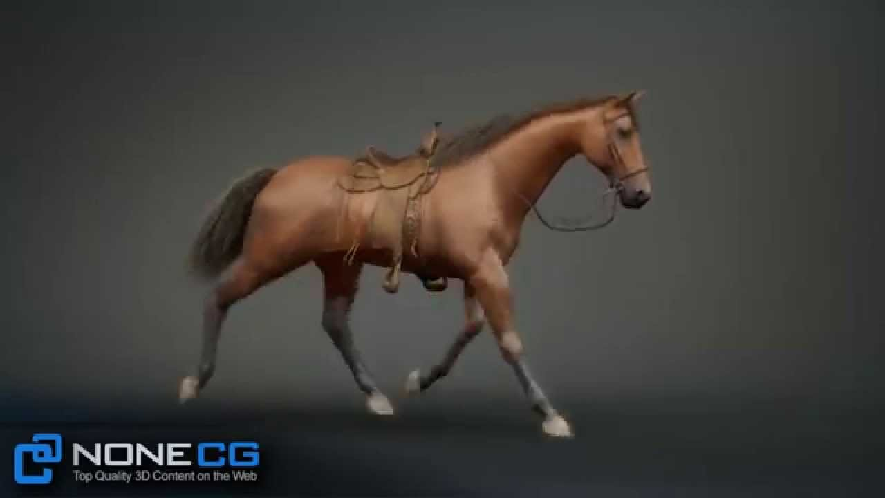 image cheval 3d