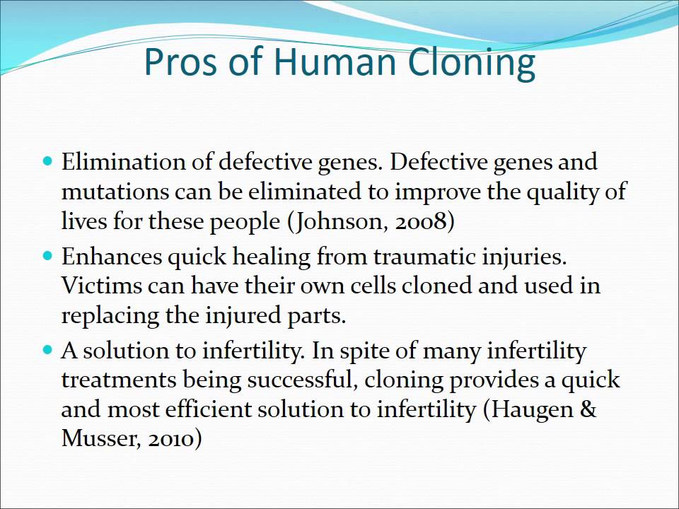 cloning should not be legalized I hate to say this, but i just did a research paper on the same topic and i found a lot of the information in this essay is wrong i think it would be beneficial to anyone looking at researching cloning to not be able to view this page it might be in your best interest to delete this so people are not misinformed by information you put on here.