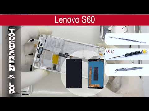 How to replace 🔧 Digitizer and lcd 📱 Lenovo S60, Tutorial