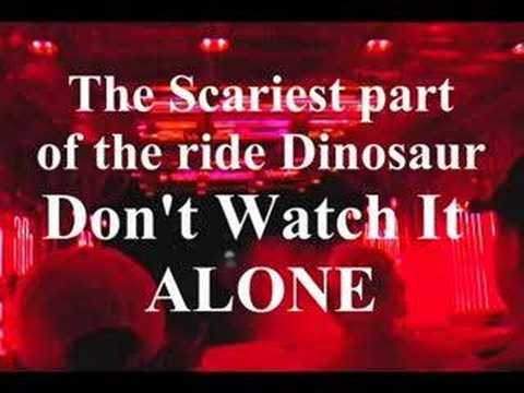 The scariest part of the ride dinosaur don quot t watch it alone youtube