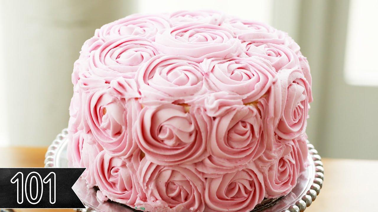 Five Beautiful Ways To Decorate Cake Youtube