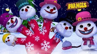 Snowman Finger Family | Christmas Carols | Nursery Rhymes For Children by Farmees