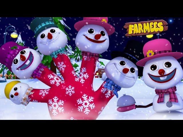 Snowman Finger Family | Christmas Carols | Nursery Rhymes For Children by Farmees