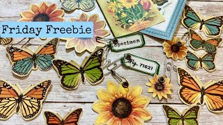 Embossed Butterfly Dangles and paperclips