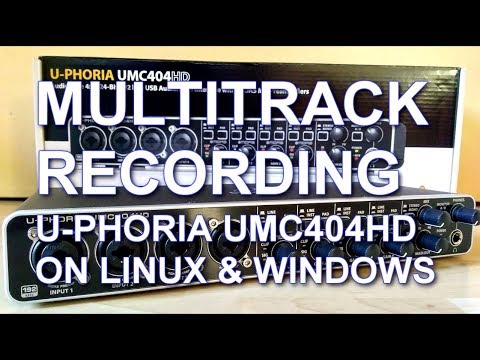 Review and Test - Behringer U-Phoria UMC404HD Multitrack Recording with Ardour and Mixcraft