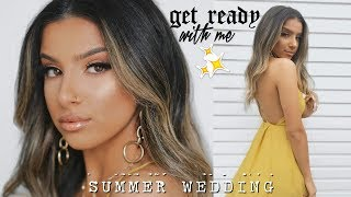 GET READY WITH ME - MAKEUP, HAIR & OUTFIT  |  SUMMER WEDDING 2018