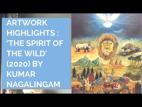 Artwork Highlights : The Spirit of the Wild (2020) by Kumar Nagalingam   Inner Joy Art Gallery
