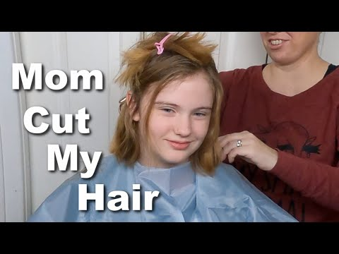 Mom Cuts 12 Year Old's Hair at Home