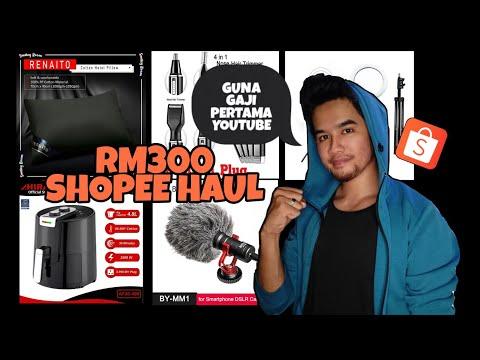 SHOPEE HAUL MALAYSIA | SHOPPING GUNA GAJI PERTAMA YOUTUBE