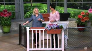 Set of 2 Large Adjustable Deck & Railing Planters on QVC