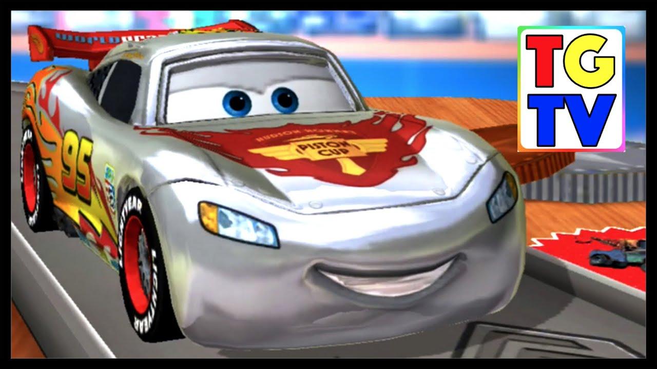 disney pixar cars silver lightning mcqueen daredevil garage youtube