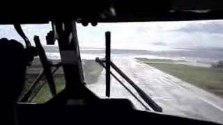 Crazy Saba Landing (cockpit view).
