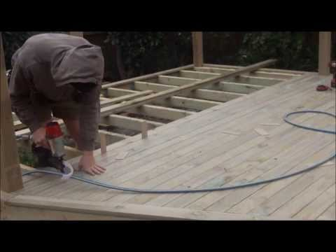 Laying Decking boards