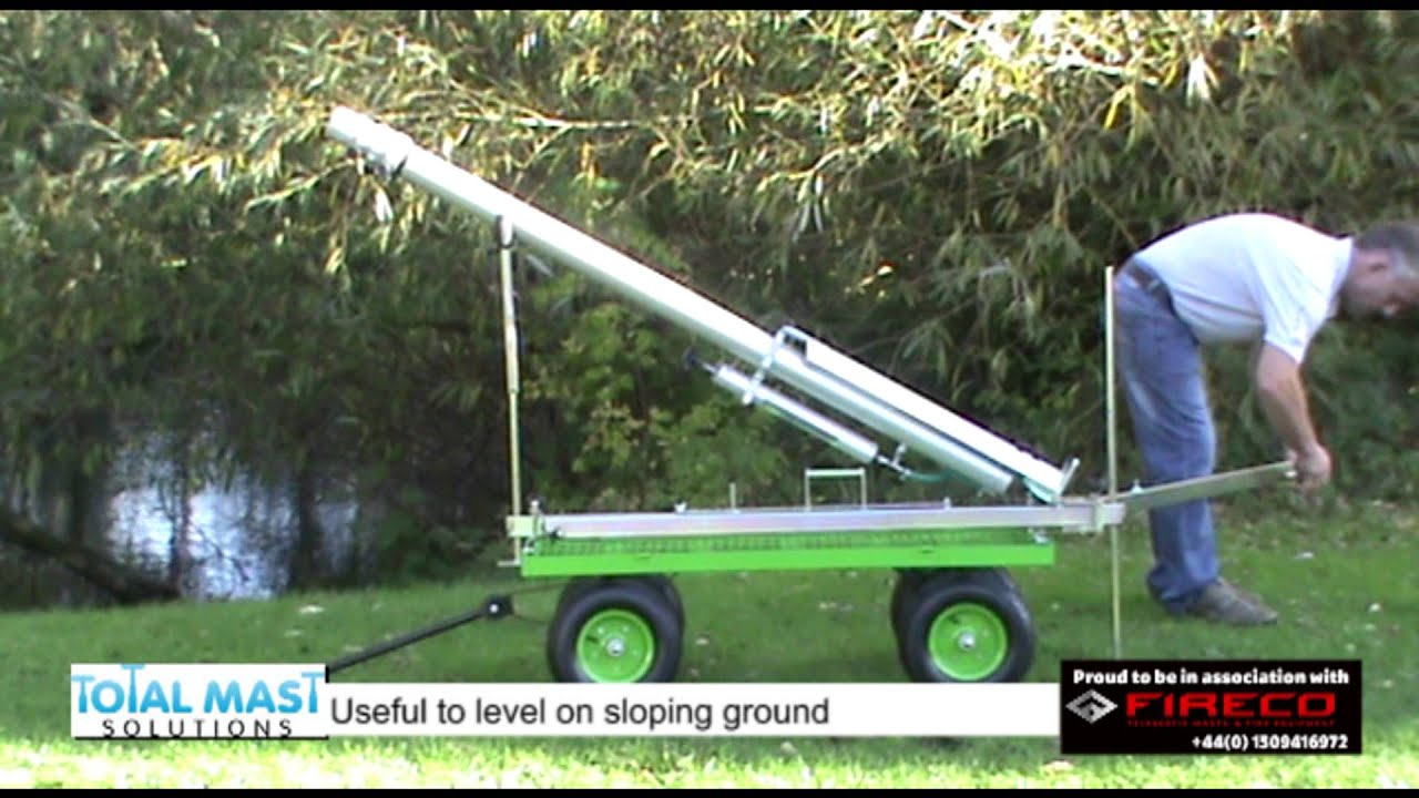TM128 Deployment- 15m Telescopic crank-up aluminum mast by