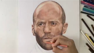 Drawing Jason Statham ( Deckard of Fast and Furious)