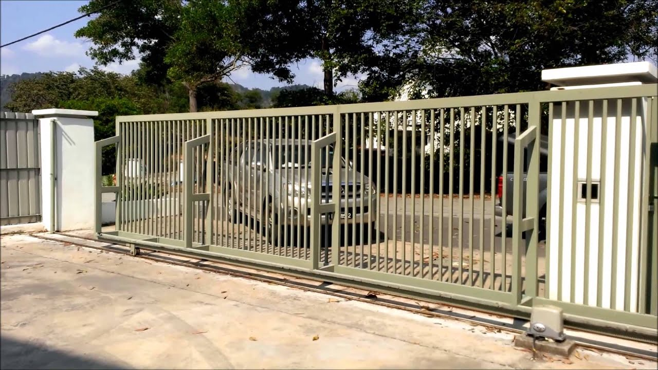 Ahouse sd heavy duty dc sliding gate system youtube