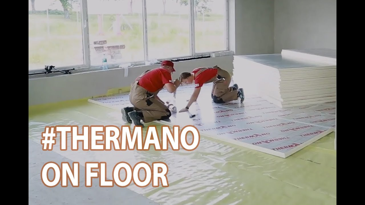 How To Install Thermano Insulation Boards On Floors Youtube