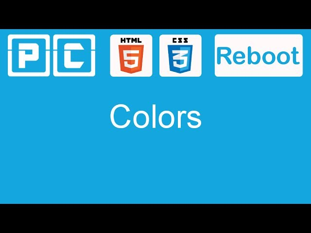HTML5 and CSS3 beginners tutorial 19 - working with colors