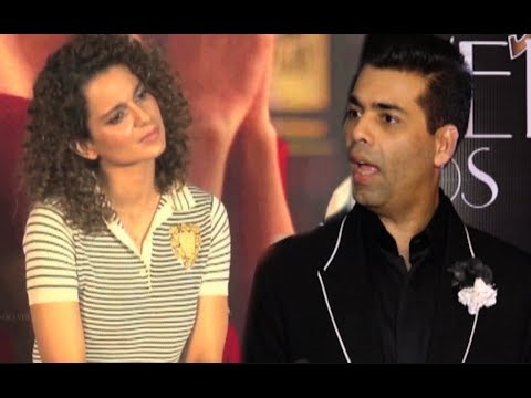 Karan Johar REACTION On Kangana Ranaut On Indias Next Superstar