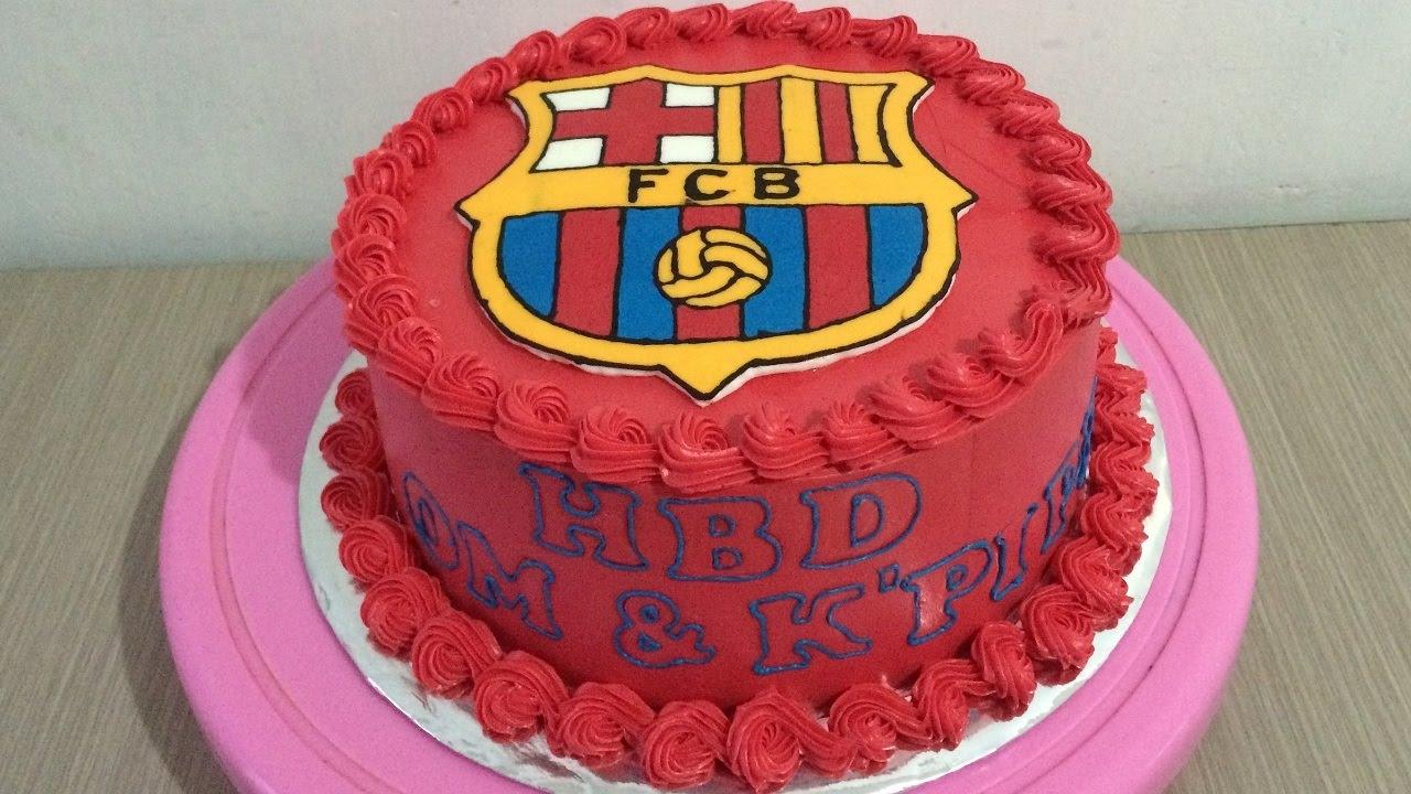 Fc Barcelona Cake Decorating Buttercream Transfer
