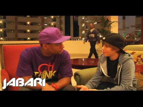 Jabari interviews Justin Bieber Before He Was Famous - Talks meeting Usher (2009)