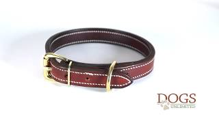 "FieldKing, Doubled & Stitched Bridle Leather Dog Collar, Standard, 1"" Wide"