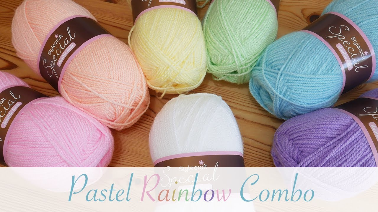 Yarn Colour Combinations Pastel Rainbow Youtube